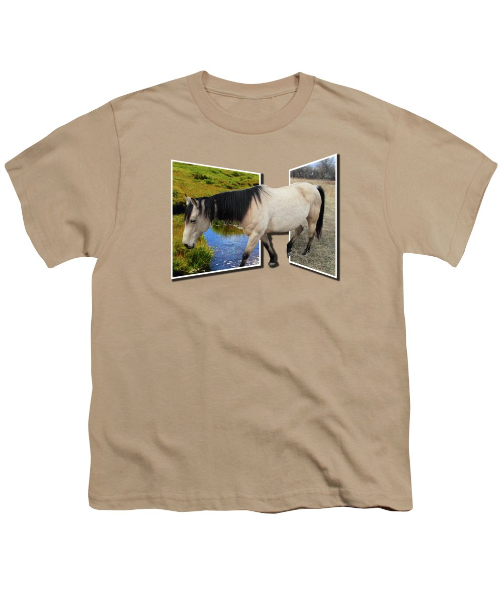 Horse Youth T-Shirt featuring the photograph The Grass Is Always Greener On The Other Side by Shane Bechler