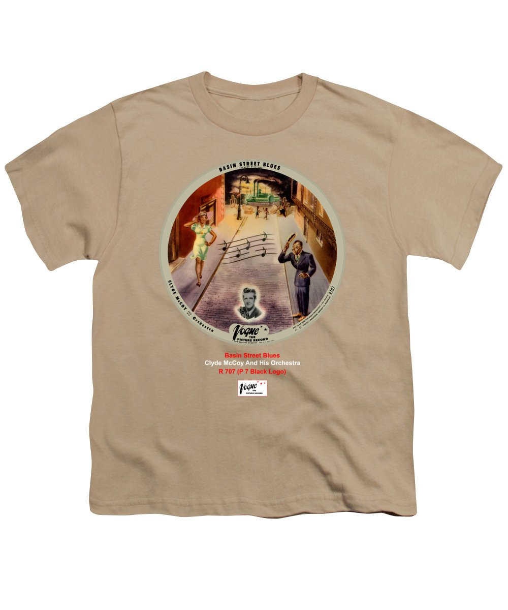 Vogue Picture Record Youth T-Shirt featuring the digital art Vogue Record Art - R 707 - P 7, Black Logo by John Robert Beck