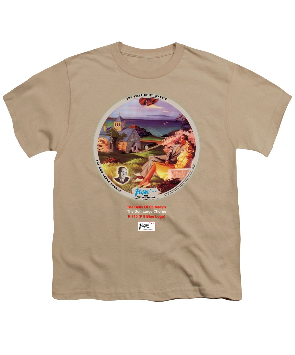 Vogue Picture Record Youth T-Shirt featuring the digital art Vogue Record Art - R 710 - P 9, Blue Logo by John Robert Beck
