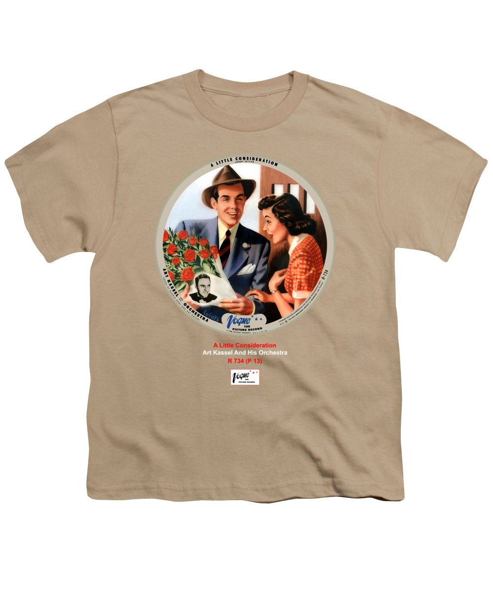 Vogue Picture Record Youth T-Shirt featuring the digital art Vogue Record Art - R 734 - P 13 by John Robert Beck