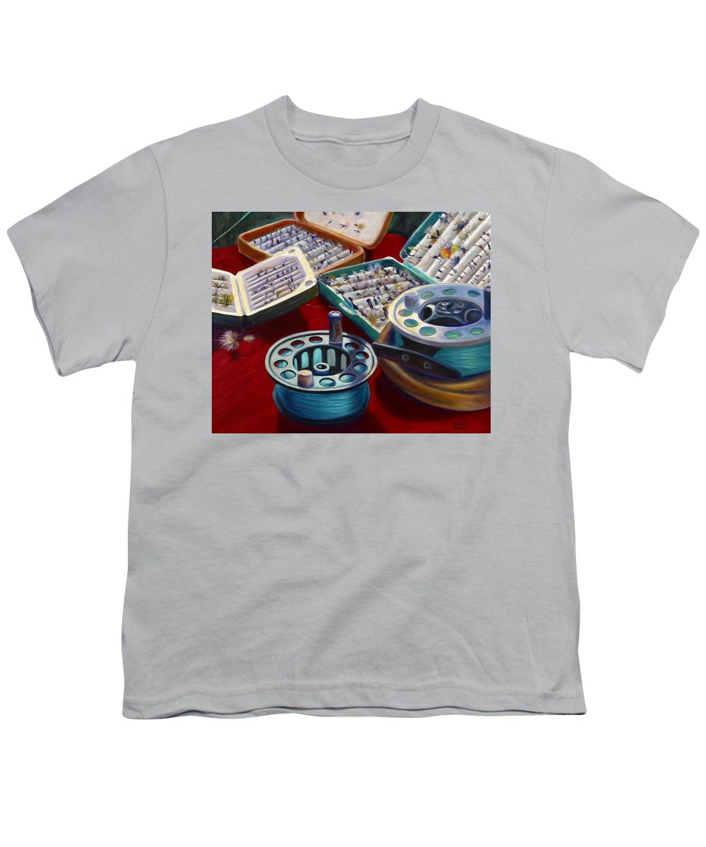 Still Life Youth T-Shirt featuring the painting A Howard Runs Through It by Shannon Grissom