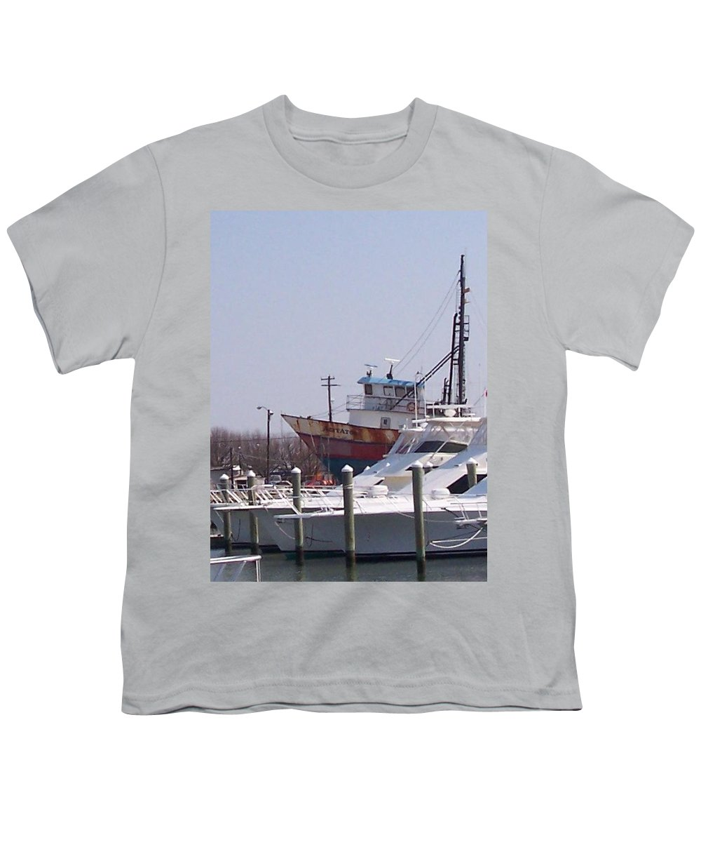 Boat Youth T-Shirt featuring the photograph Boats Docked by Pharris Art