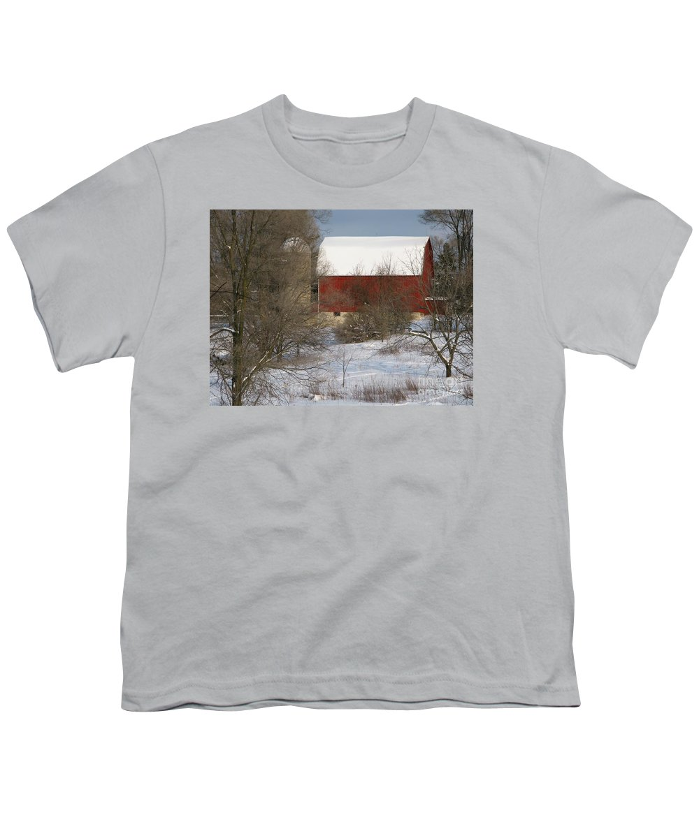 Winter Youth T-Shirt featuring the photograph Country Winter by Ann Horn