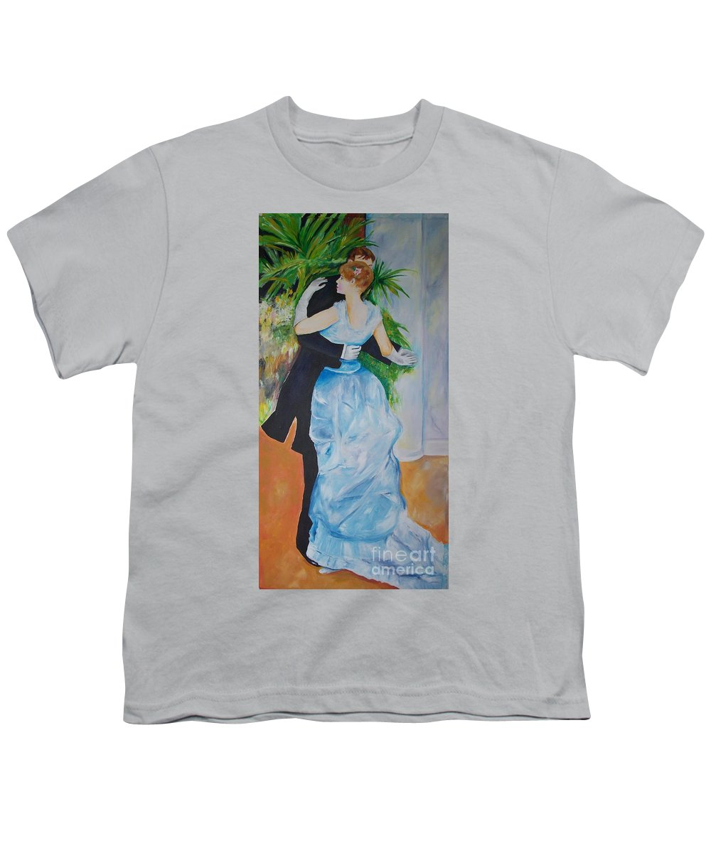 Lavender Youth T-Shirt featuring the painting Dance In The City by Eric Schiabor