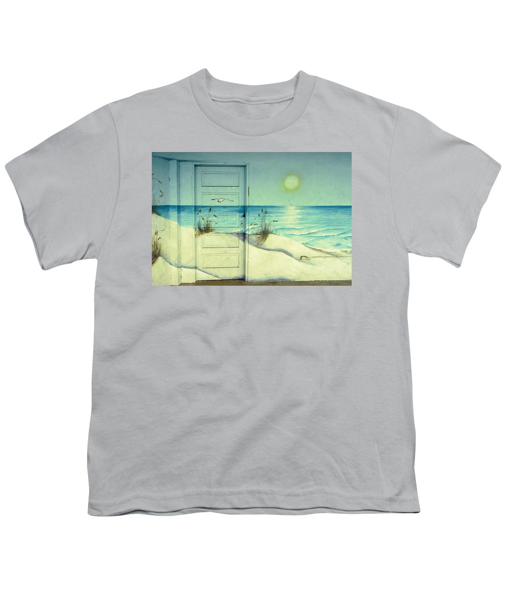 Architecture Youth T-Shirt featuring the photograph Door Of Perception by Skip Hunt