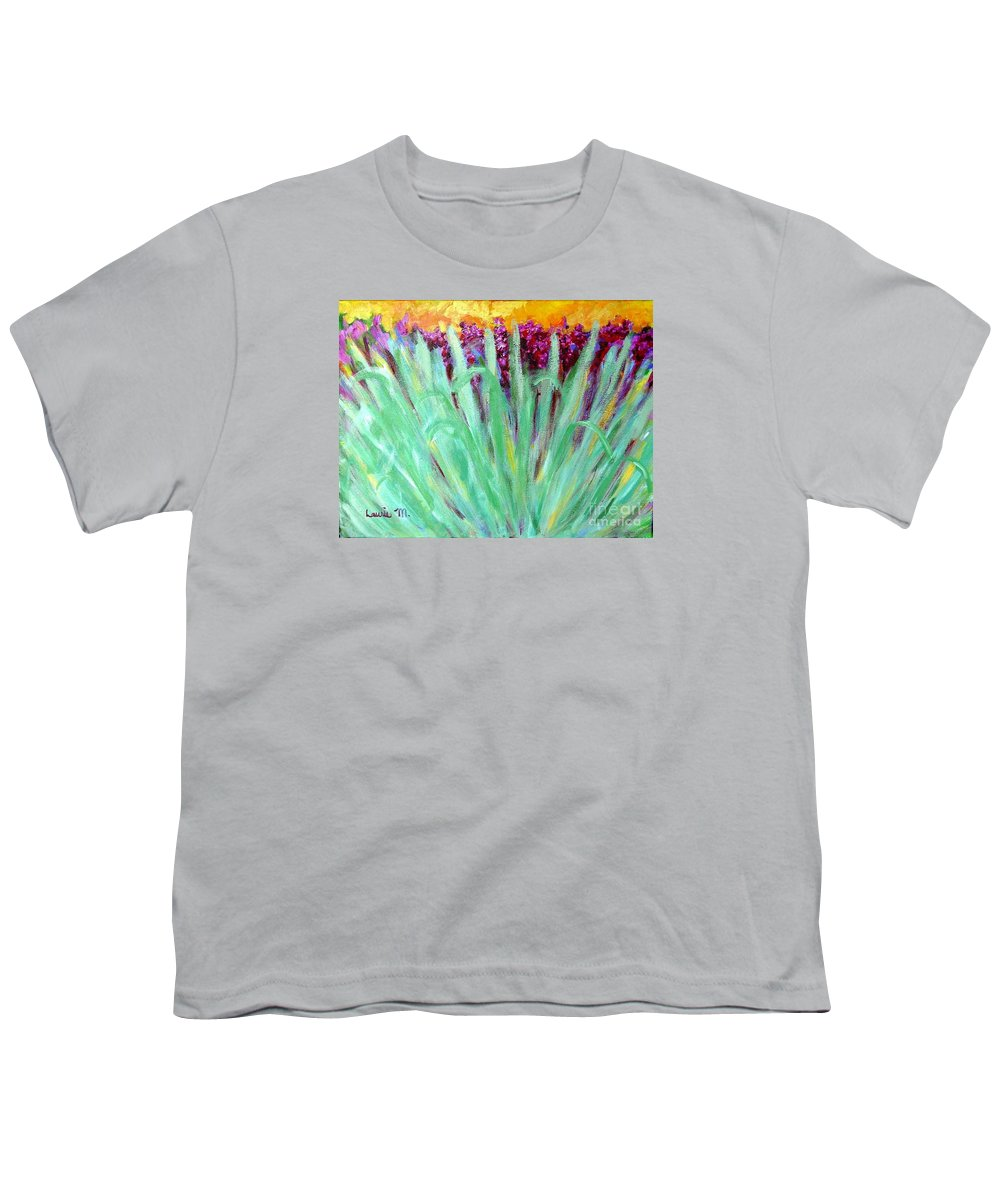 Abstract Youth T-Shirt featuring the painting Festoon by Laurie Morgan