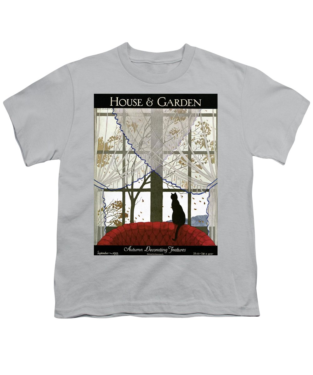 Illustration Youth T-Shirt featuring the photograph House And Garden Cover by Andre E. Marty