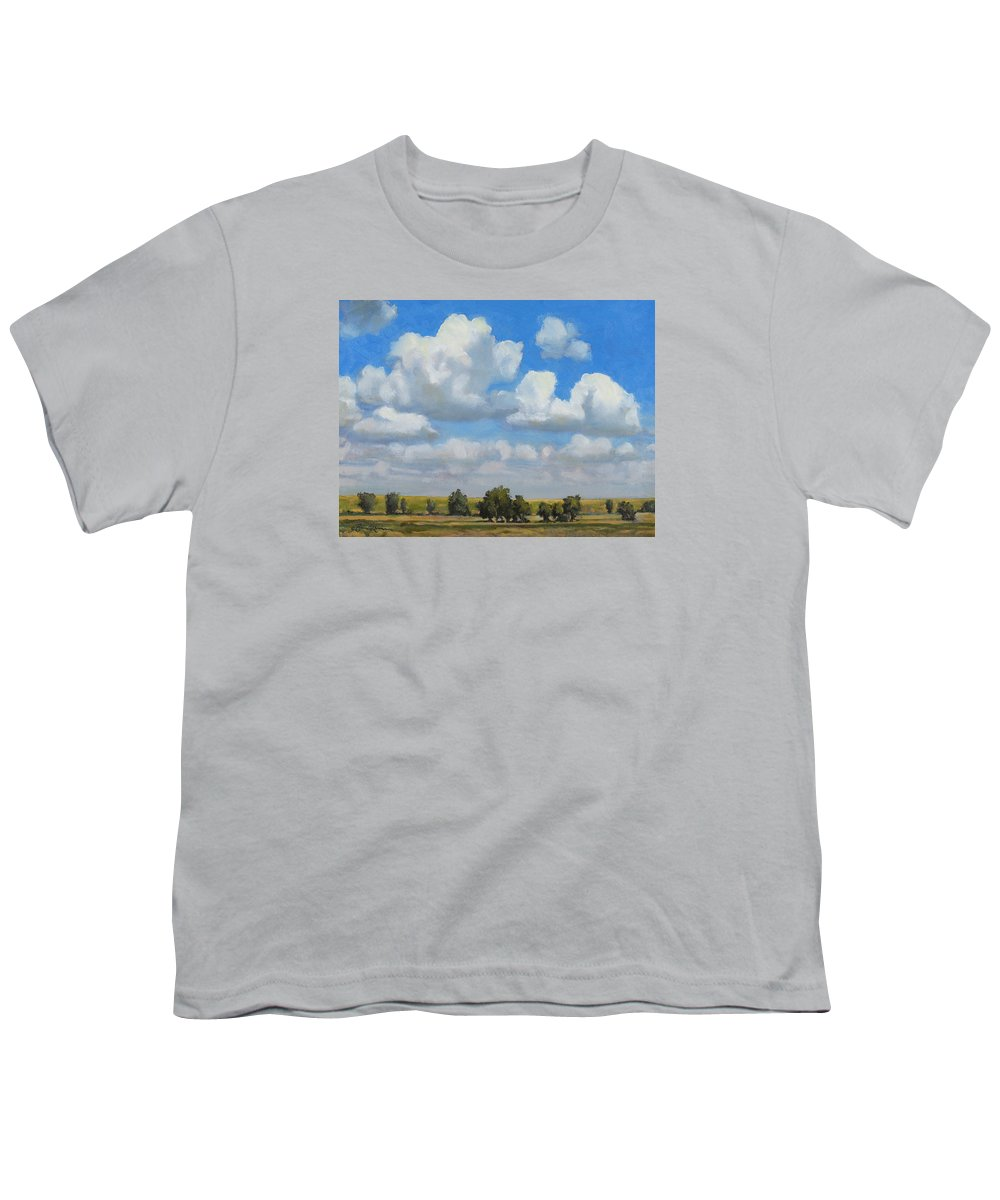 Landscape Youth T-Shirt featuring the painting Summer Pasture by Bruce Morrison