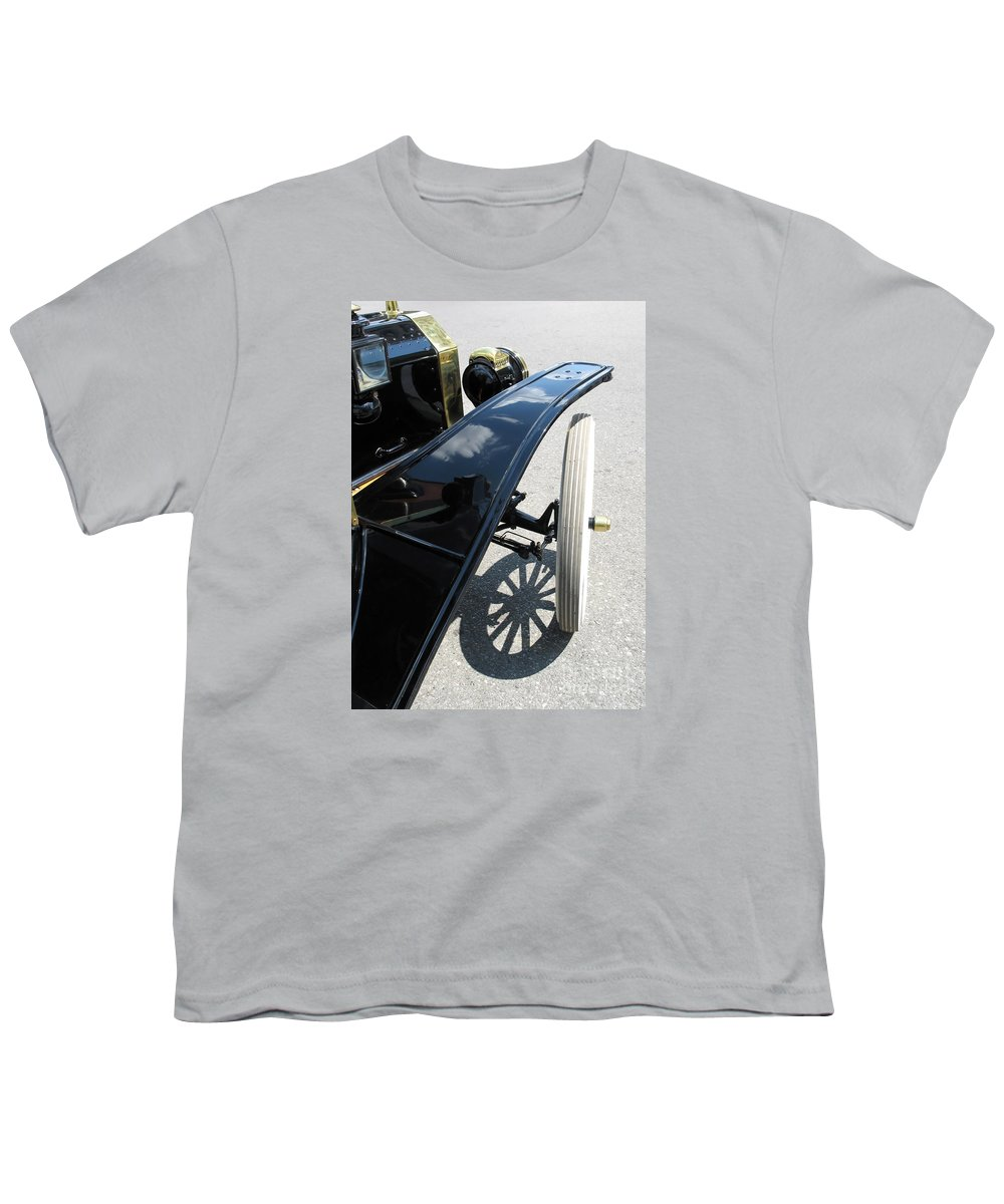 Model T Youth T-Shirt featuring the photograph Vintage Model T by Ann Horn