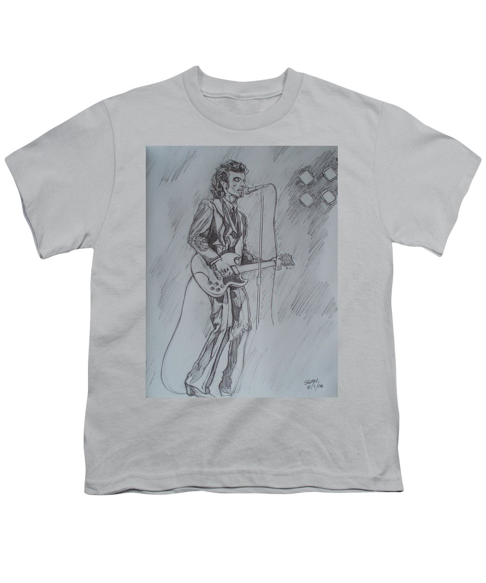 Pencil Youth T-Shirt featuring the drawing Mink Deville - Steady Drivin' Man by Sean Connolly