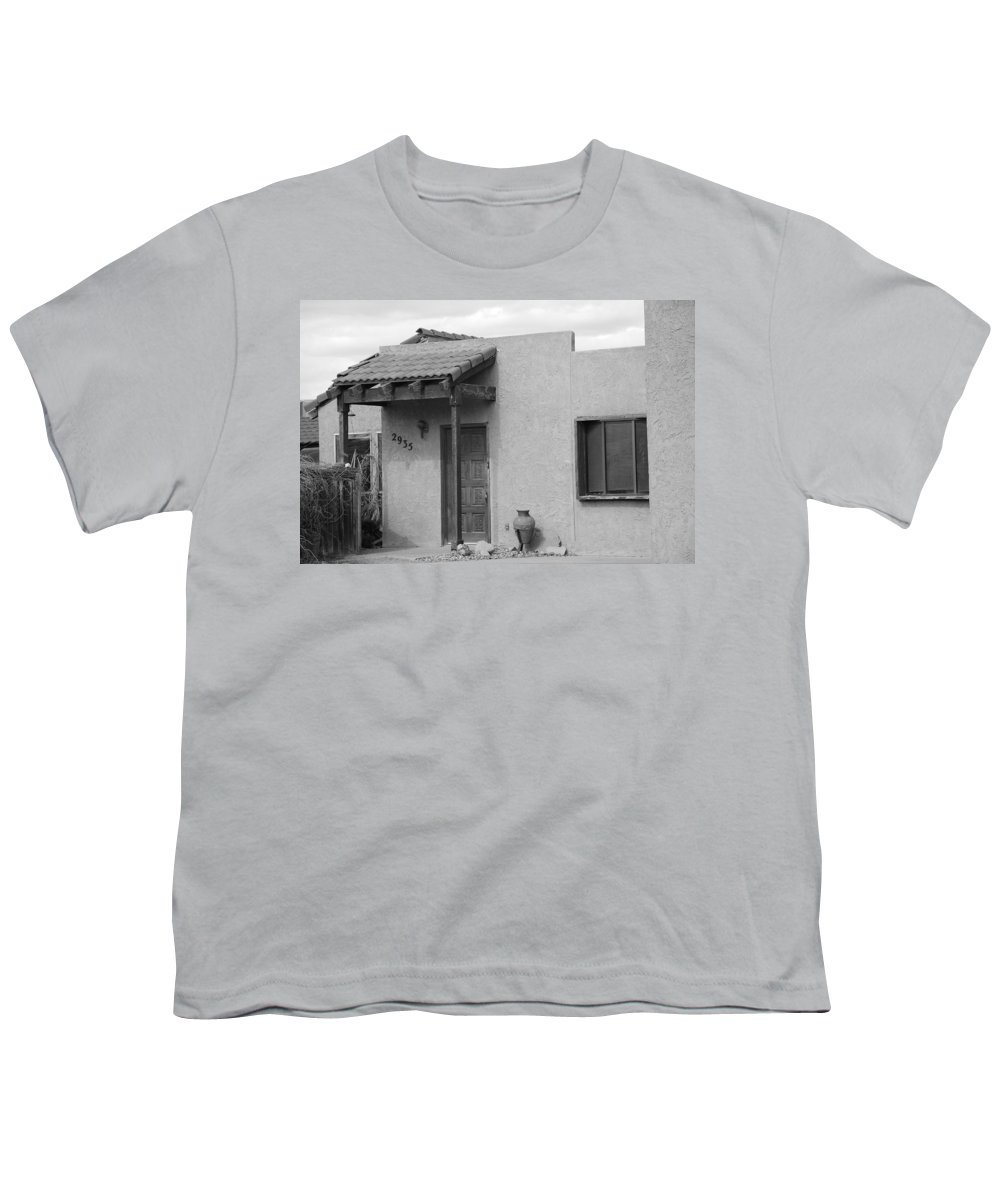 Architecture Youth T-Shirt featuring the photograph Adobe House by Rob Hans