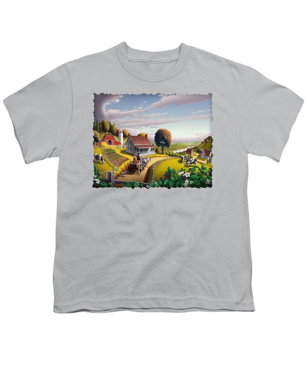 Farm Landscape Youth T-Shirts