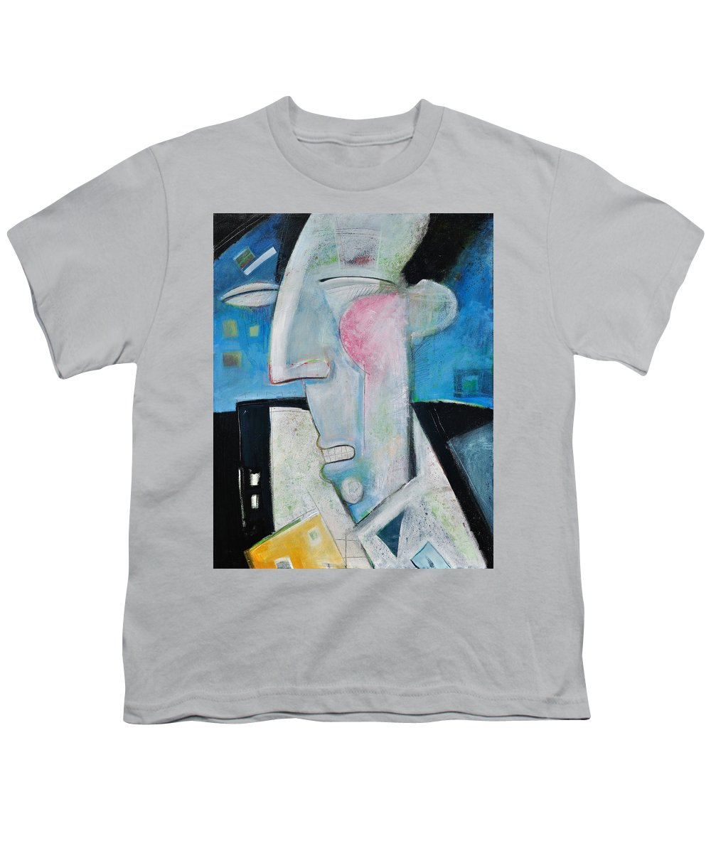 Jazz Youth T-Shirt featuring the painting Jazz Face by Tim Nyberg