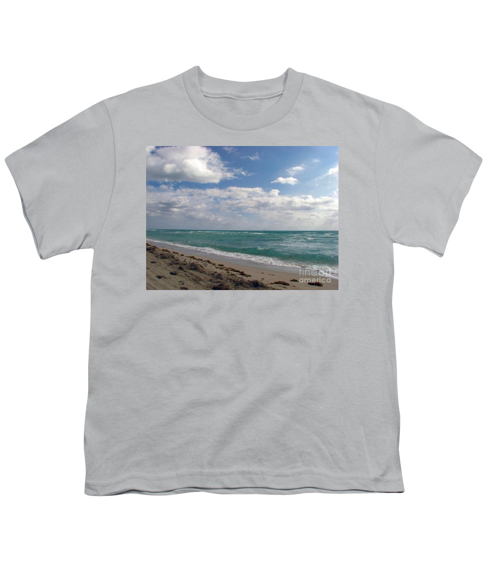 Miami Beach Youth T-Shirt featuring the photograph Miami Beach by Amanda Barcon