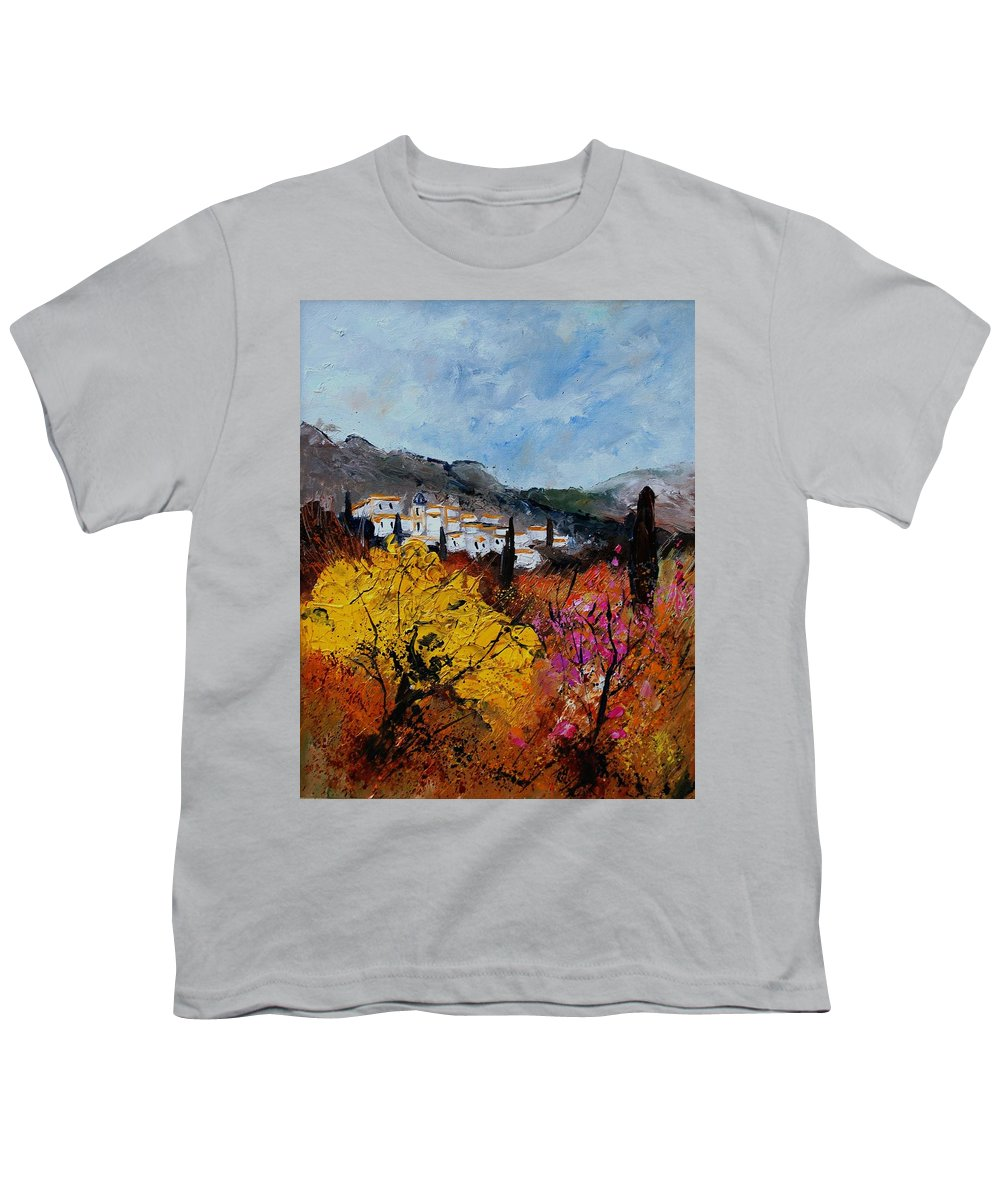 Provence Youth T-Shirt featuring the painting Provence by Pol Ledent