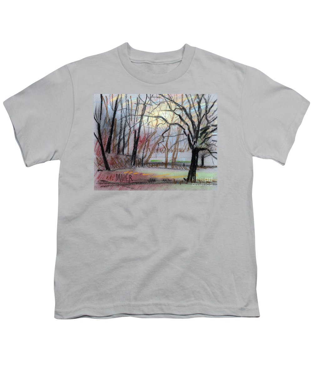 Landscape Youth T-Shirt featuring the drawing Turner South by Donald Maier