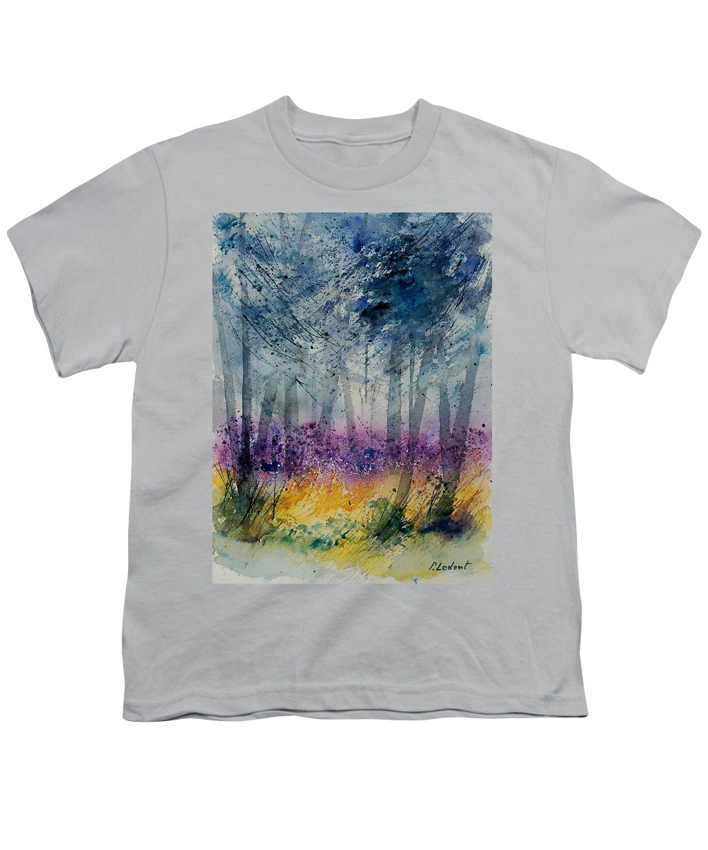 Flowers Youth T-Shirt featuring the painting Watercolor 130608 by Pol Ledent