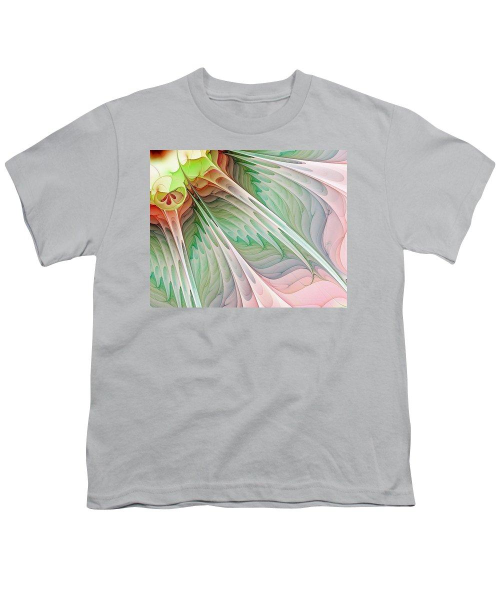 Digital Art Youth T-Shirt featuring the digital art Petals by Amanda Moore
