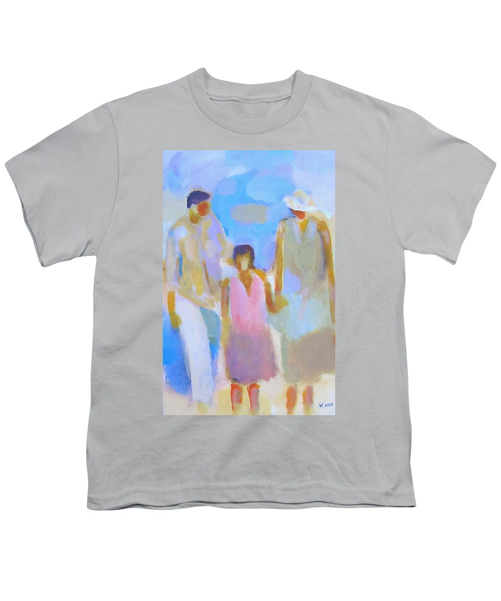 Abstract Youth T-Shirt featuring the painting 3 With Love by Habib Ayat