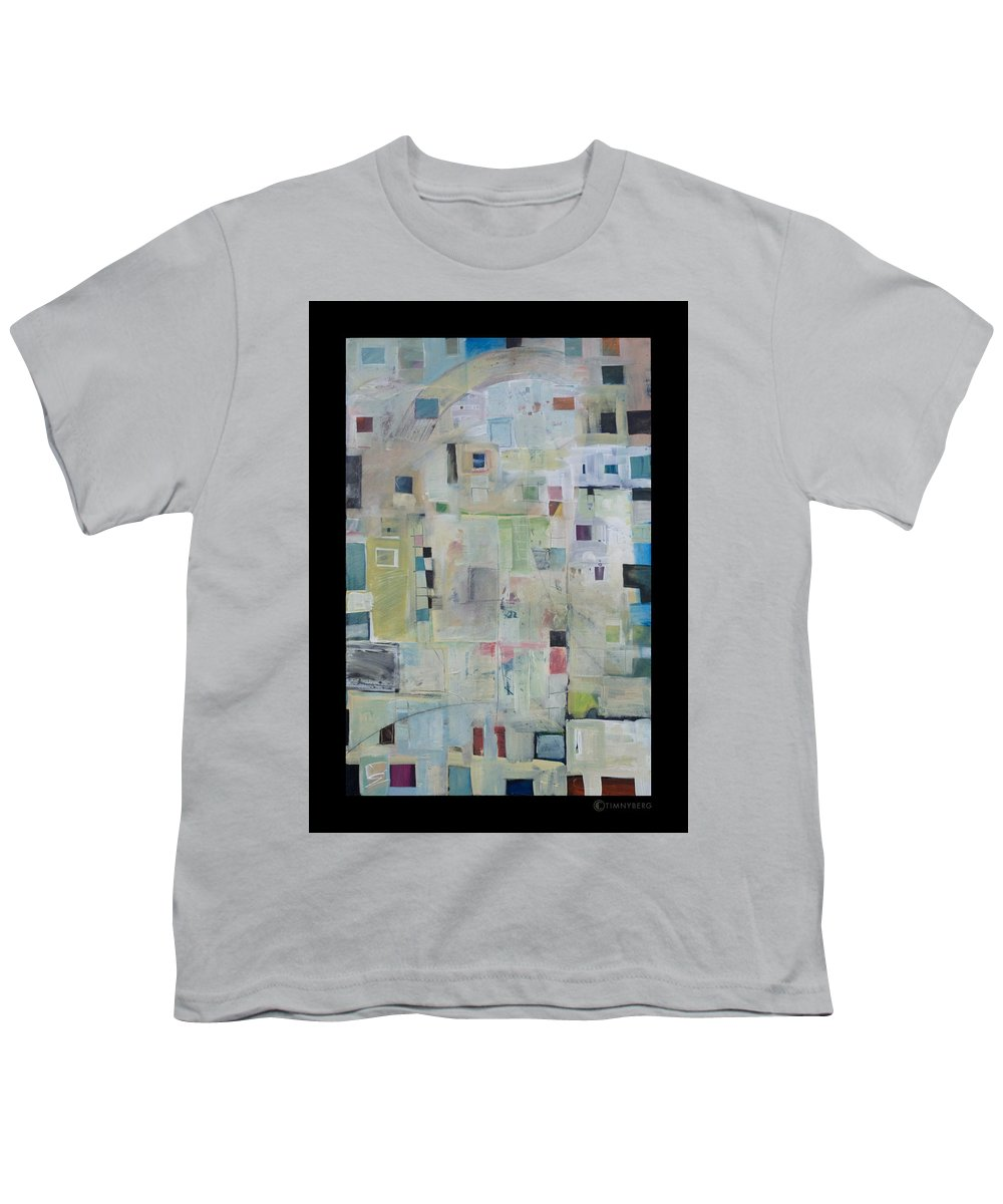 Abstract Youth T-Shirt featuring the painting 7am In The City That Doesn by Tim Nyberg