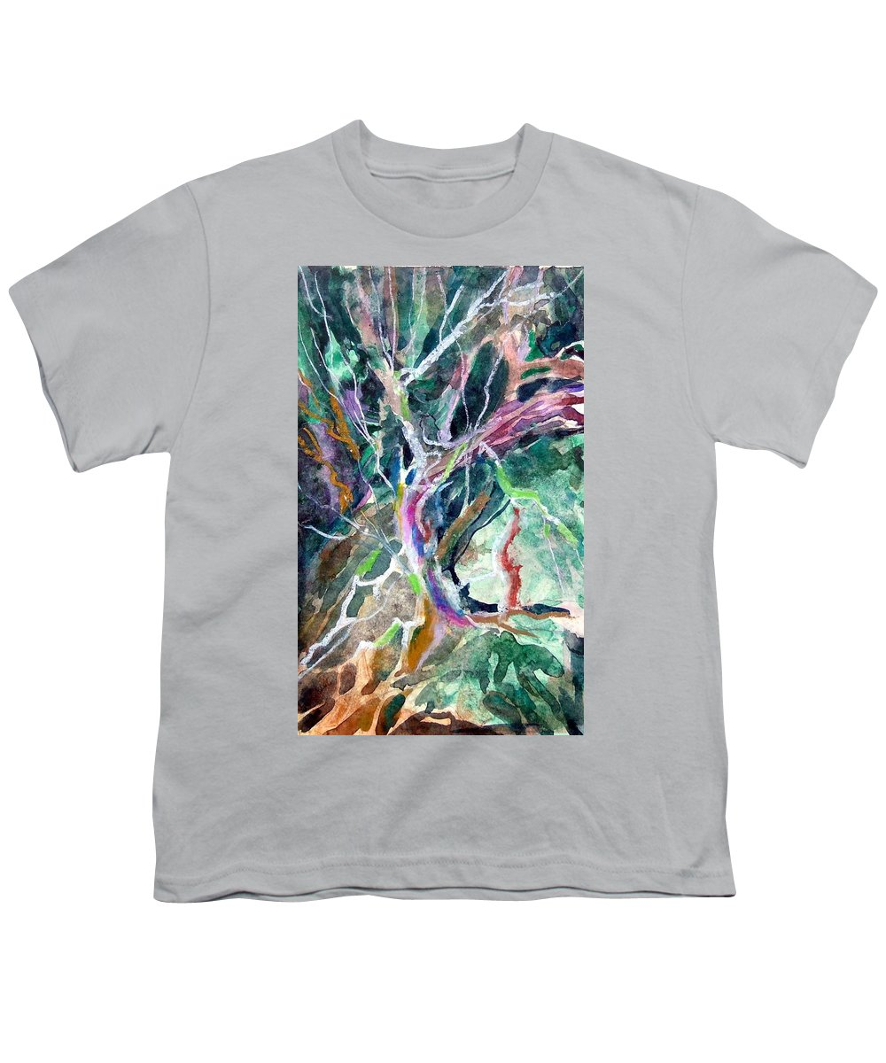 Tree Youth T-Shirt featuring the painting A Dying Tree by Mindy Newman