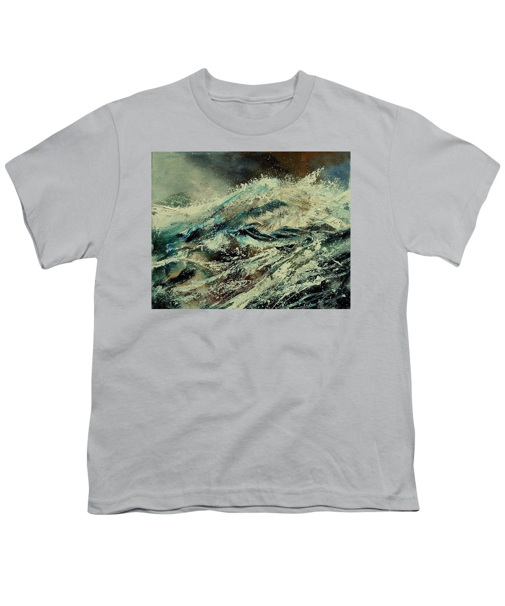 Sea Youth T-Shirt featuring the painting A Wave by Pol Ledent
