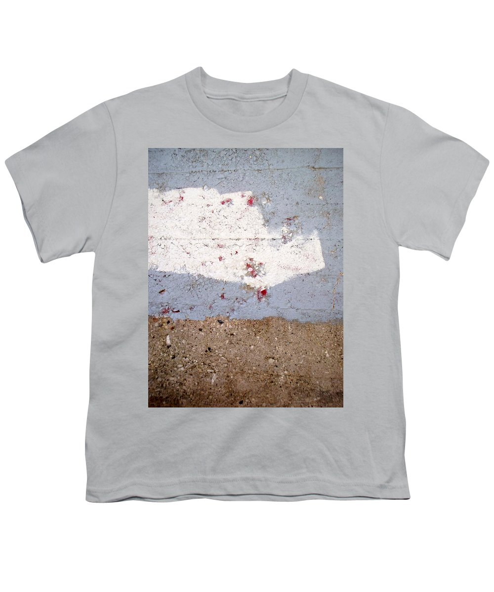 Industrial. Urban Youth T-Shirt featuring the photograph Abstract Concrete 13 by Anita Burgermeister