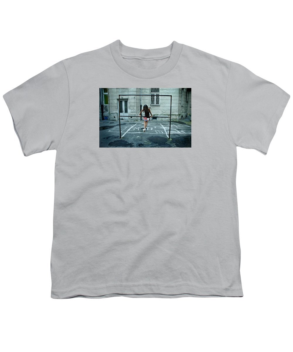 Children Youth T-Shirt featuring the photograph Ana At The Barre by Michael Ziegler