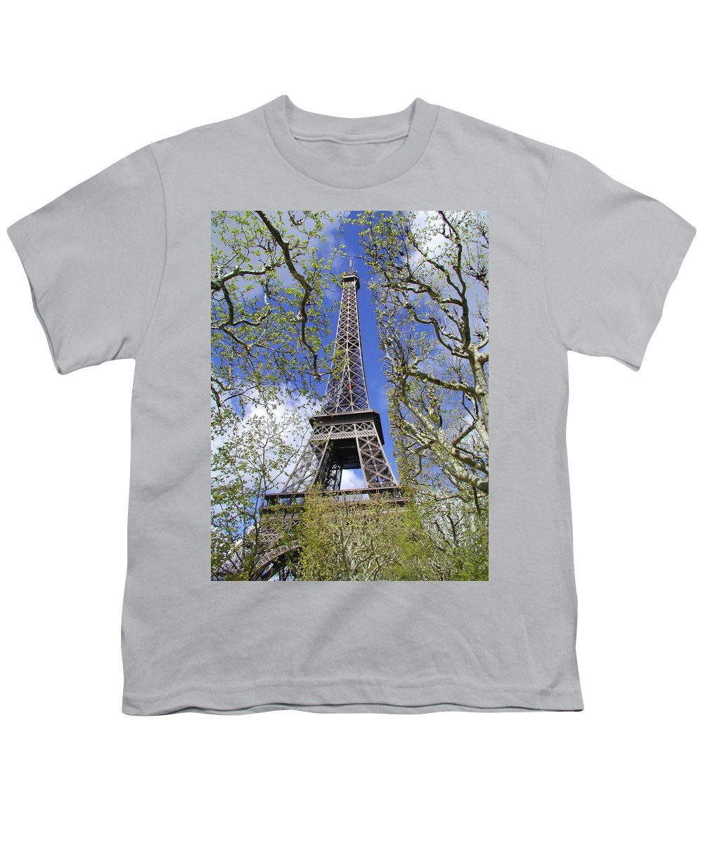 Paris Youth T-Shirt featuring the photograph April In Paris by Tom Reynen