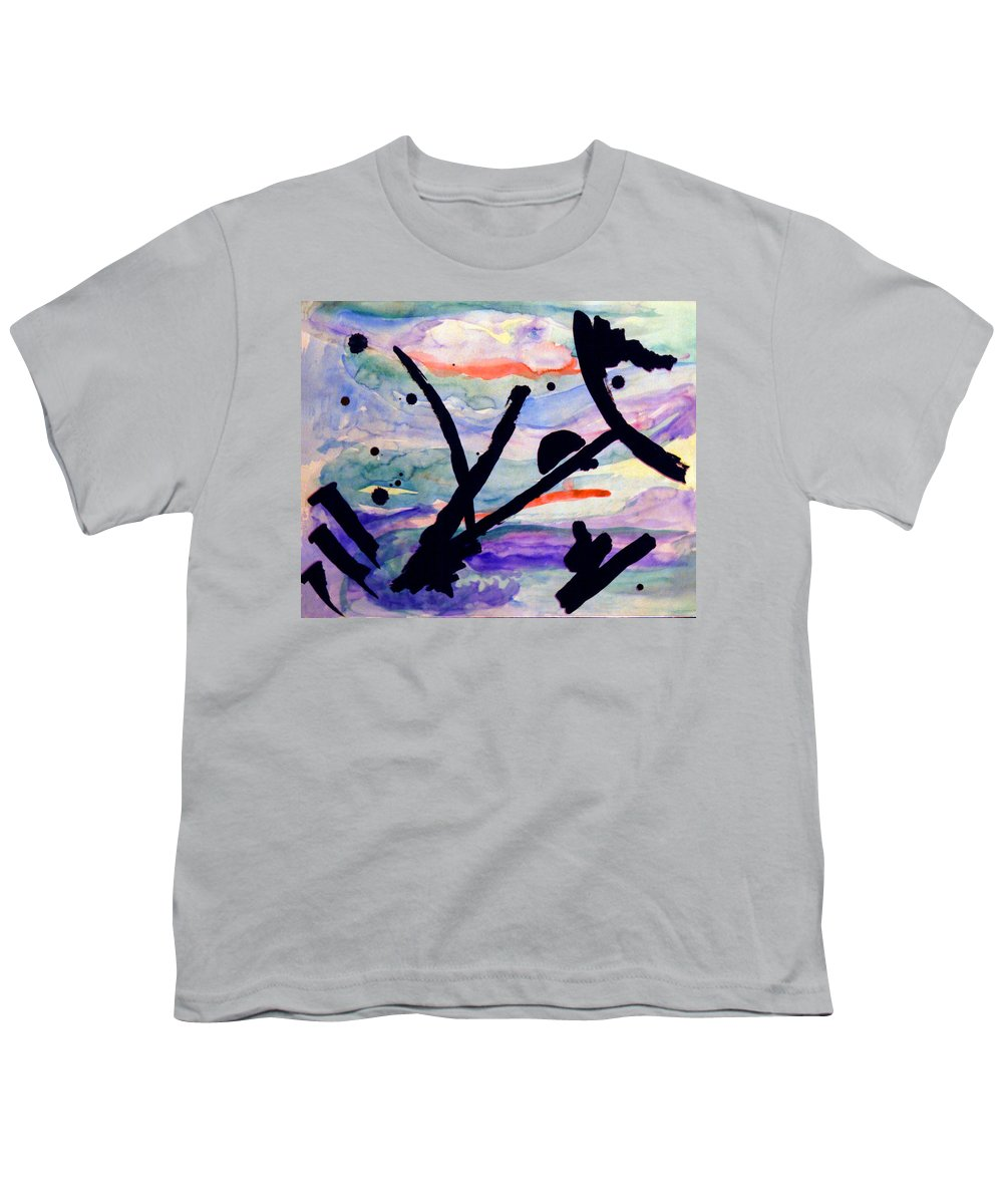 Abstract Youth T-Shirt featuring the painting Asian Impression by Steve Karol