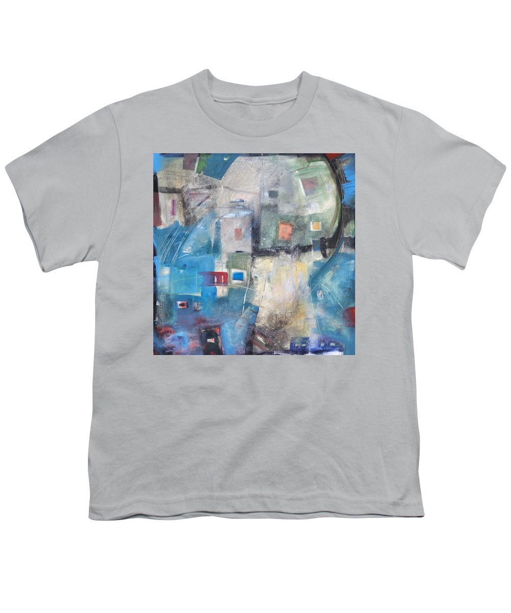 Abstract Youth T-Shirt featuring the painting Bayer Works Wonders by Tim Nyberg