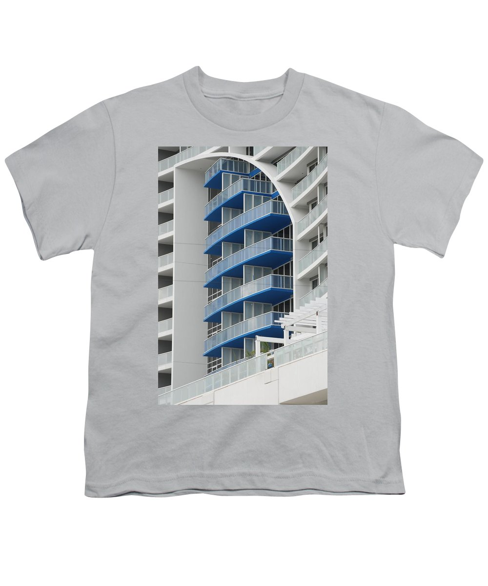 Architecture Youth T-Shirt featuring the photograph Blue Bayu by Rob Hans