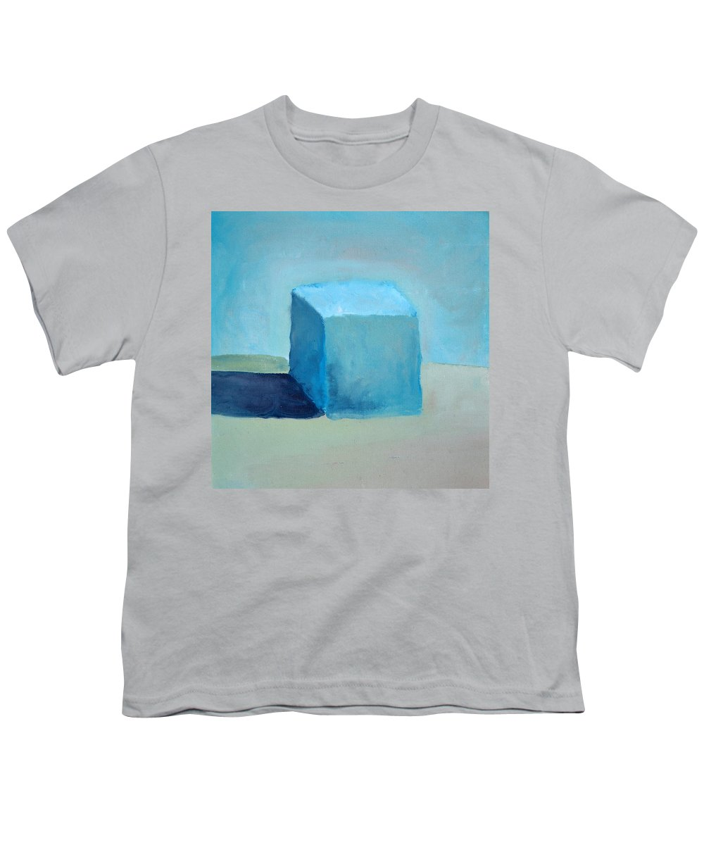 Blue Youth T-Shirt featuring the painting Blue Cube Still Life by Michelle Calkins