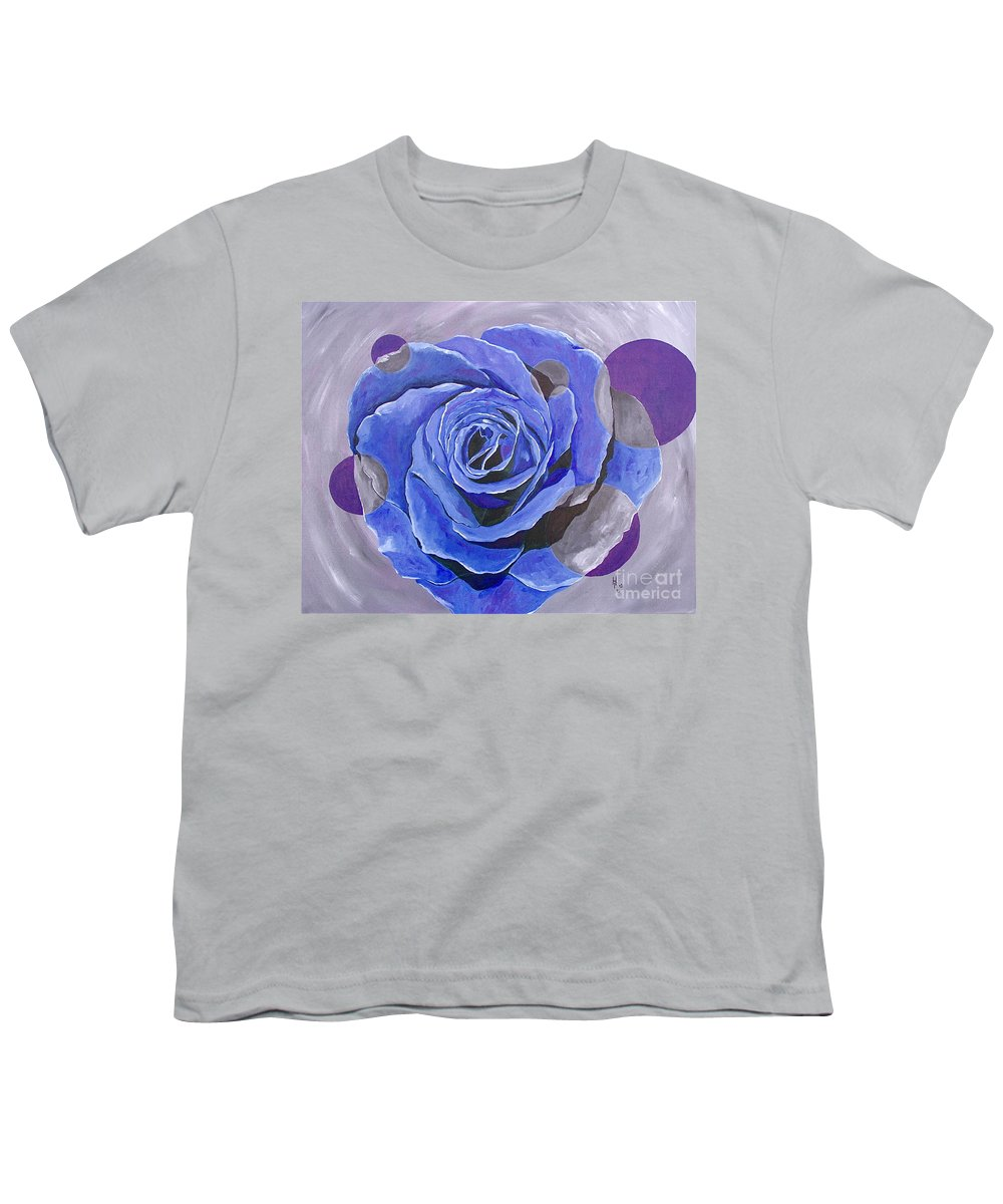 Acrylic Youth T-Shirt featuring the painting Blue Ice by Herschel Fall