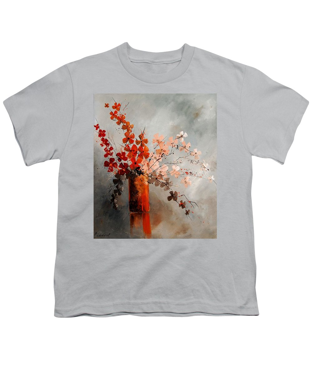 Flowers Youth T-Shirt featuring the painting Bunch 670908 by Pol Ledent