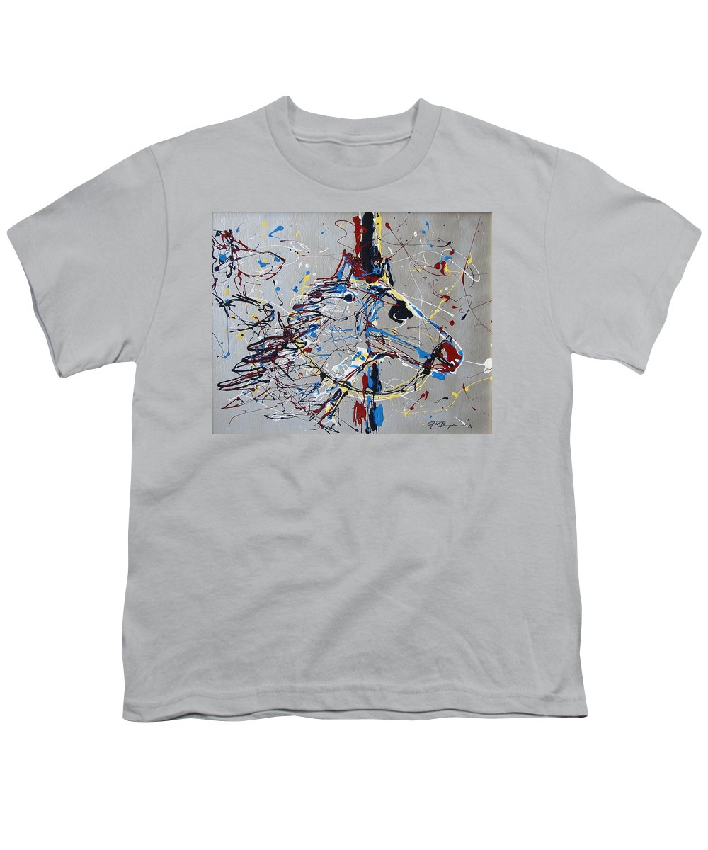 Carousel Horse Youth T-Shirt featuring the mixed media Carousel Horse by J R Seymour