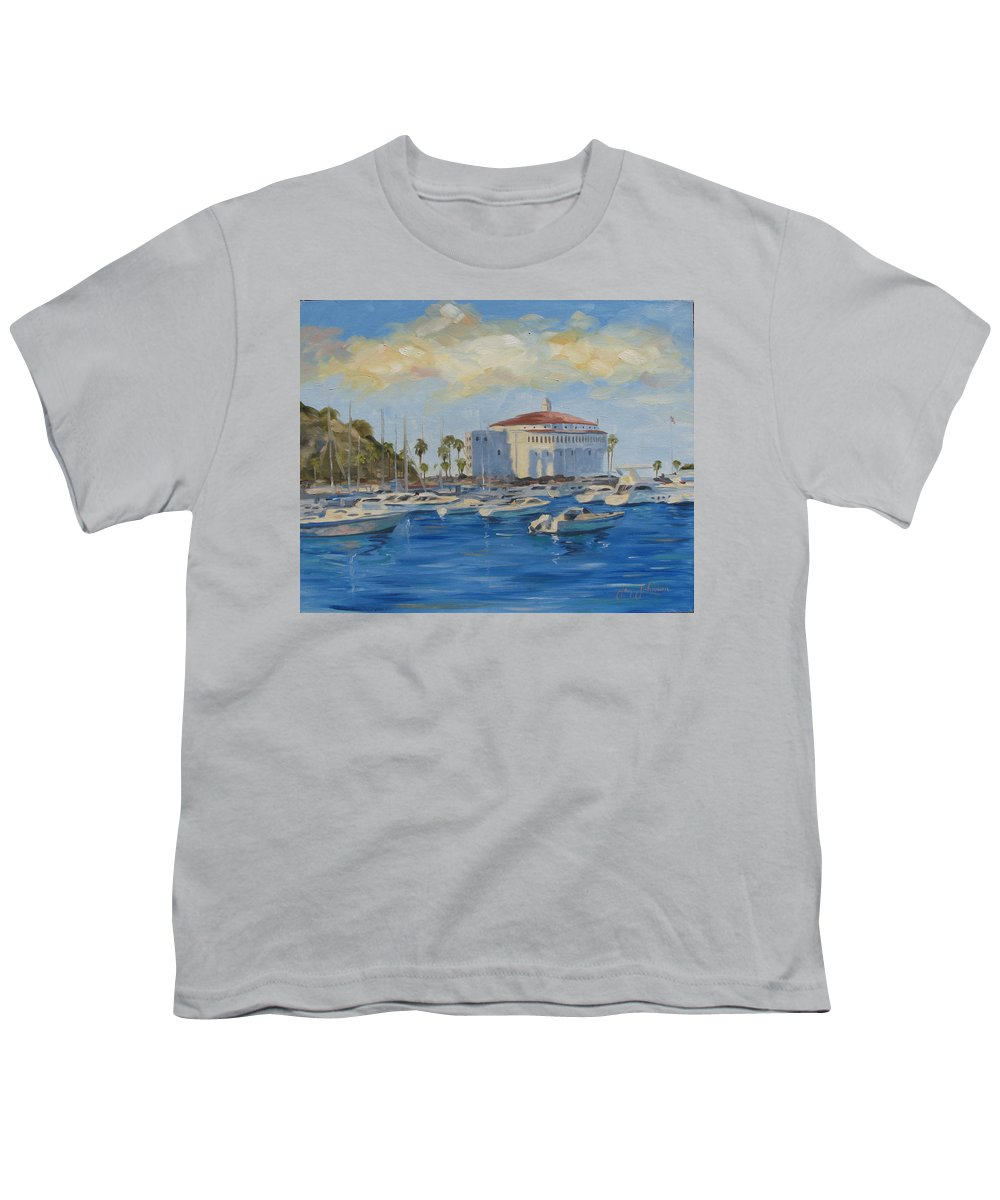 California Youth T-Shirt featuring the painting Catallina Casino by Jay Johnson