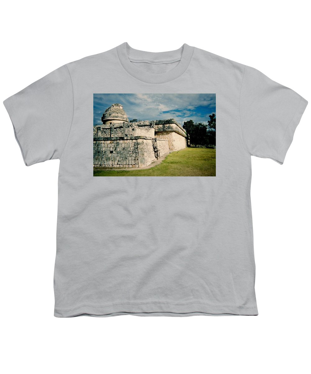 Chitchen Itza Youth T-Shirt featuring the photograph Chichen Itza 1 by Anita Burgermeister