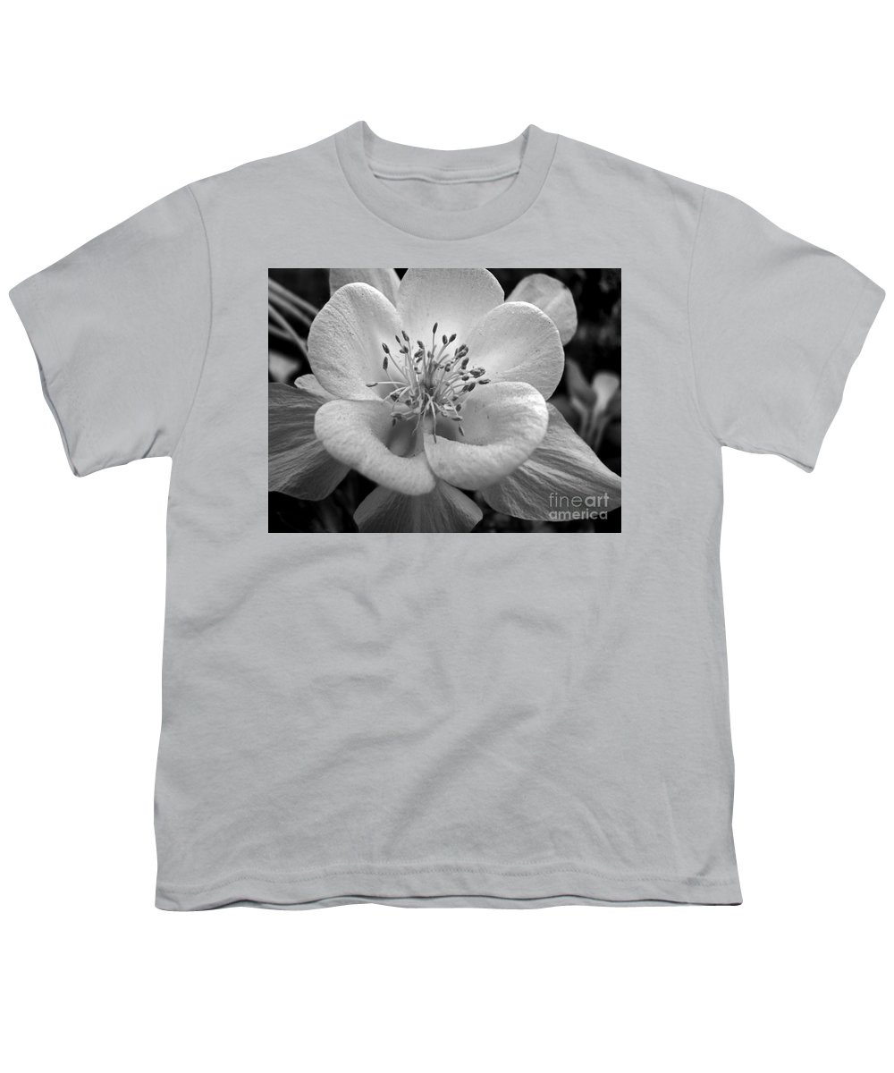 Flowers Youth T-Shirt featuring the photograph Columbine by Amanda Barcon