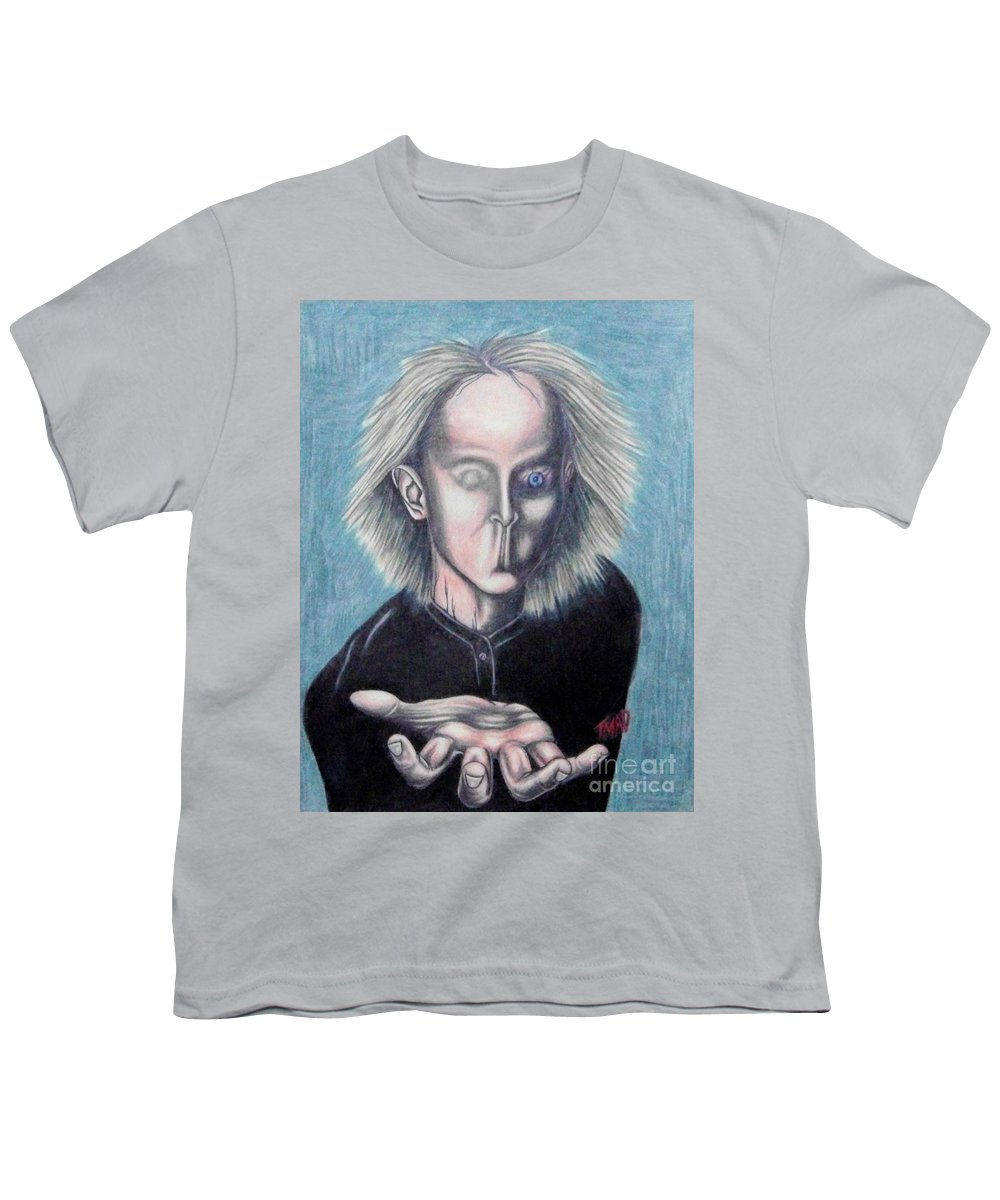 Tmad Youth T-Shirt featuring the drawing Consciousness by Michael TMAD Finney