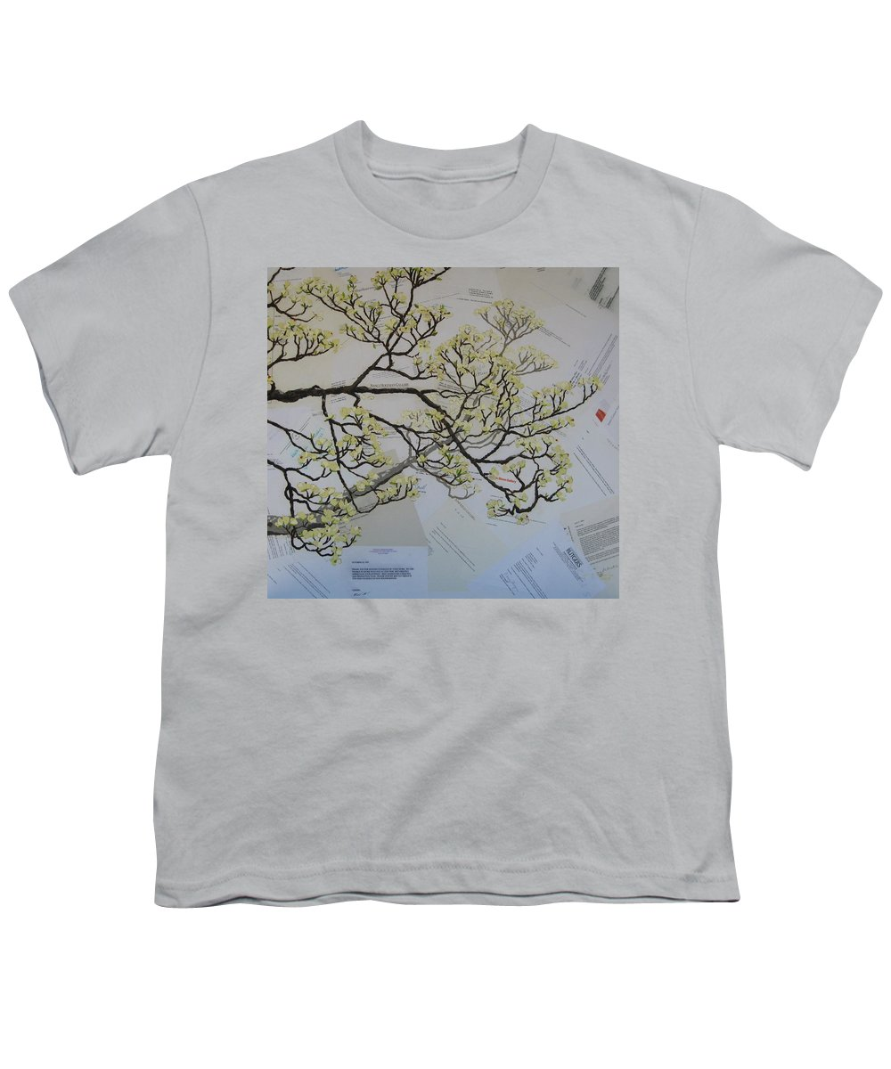 Collage Youth T-Shirt featuring the painting Dear Artist by Leah Tomaino