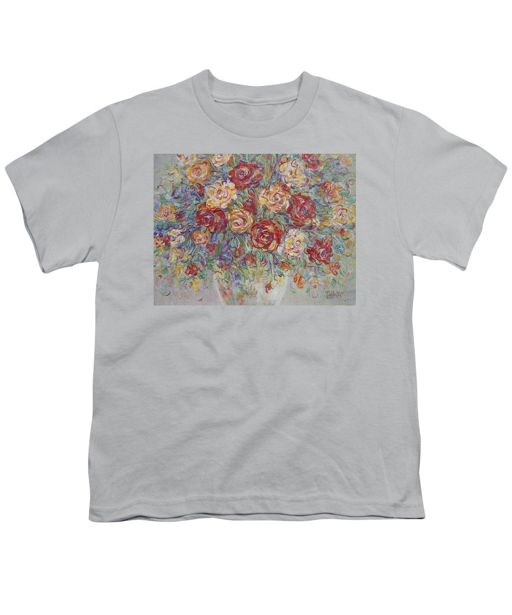 Flowers Youth T-Shirt featuring the painting Double Delight. by Natalie Holland