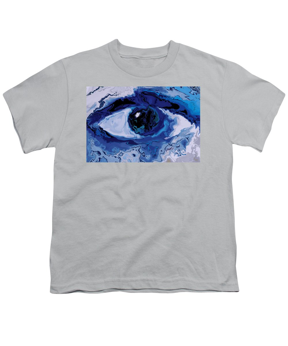 Eye Youth T-Shirt featuring the digital art Eye by Rabi Khan