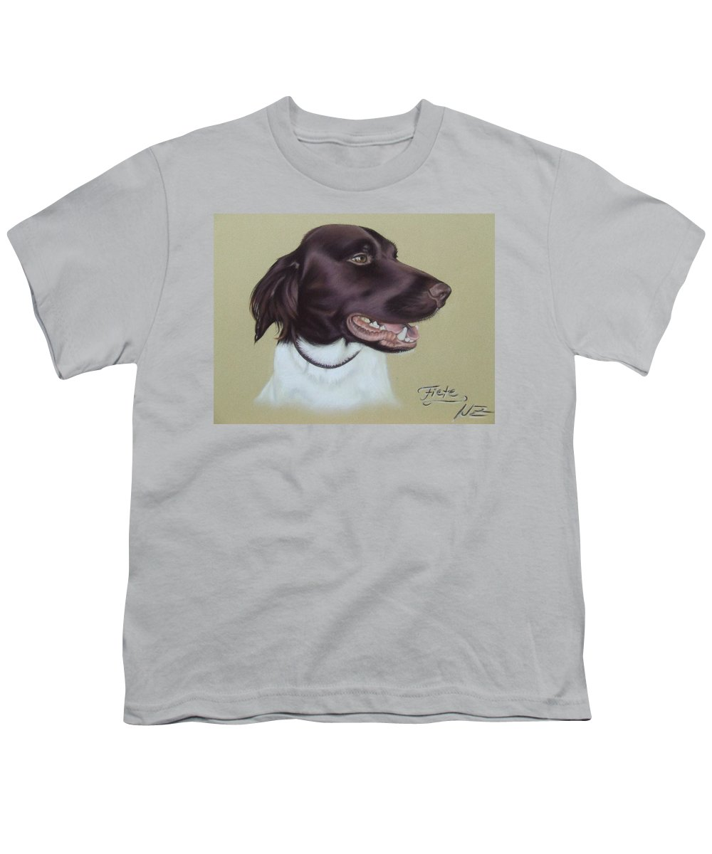 Dog Youth T-Shirt featuring the pastel Fiete by Nicole Zeug