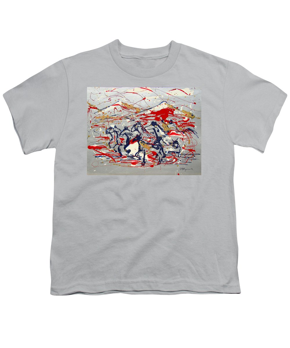Freedom On The Open Range Youth T-Shirt featuring the painting Freedom On The Open Range by J R Seymour