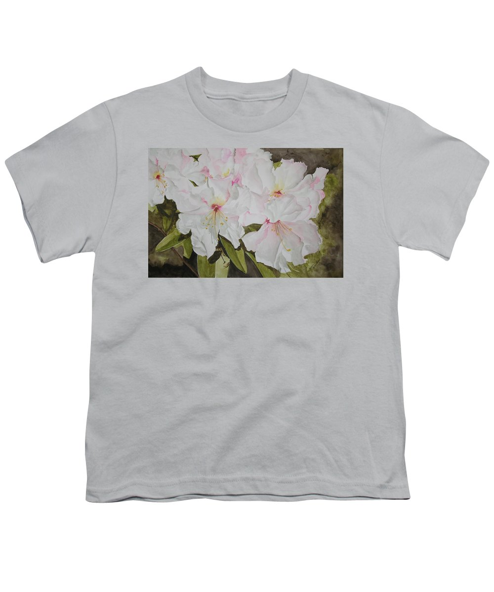 Flowers Youth T-Shirt featuring the painting Full Bloom by Jean Blackmer