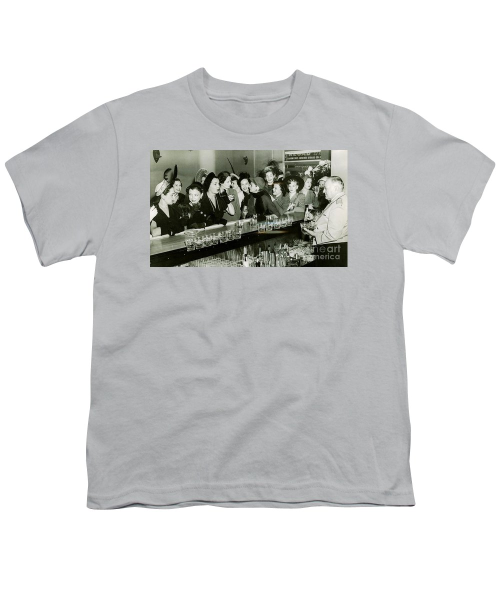1903 Youth T-Shirt featuring the photograph Girls Night Out by Jon Neidert