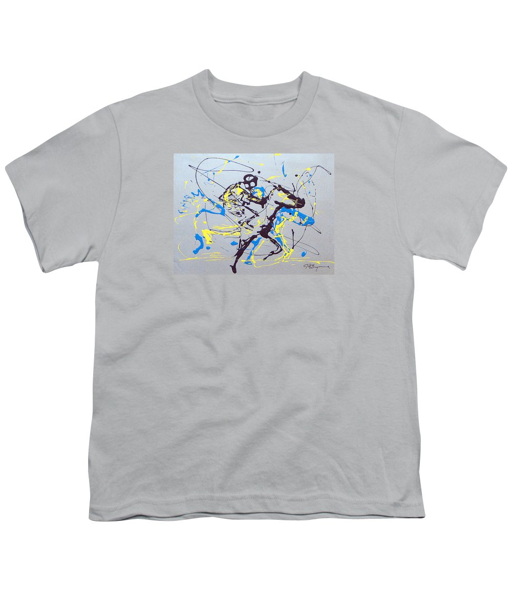 Kentucky Derby Youth T-Shirt featuring the painting Great Day In Kentucky by J R Seymour