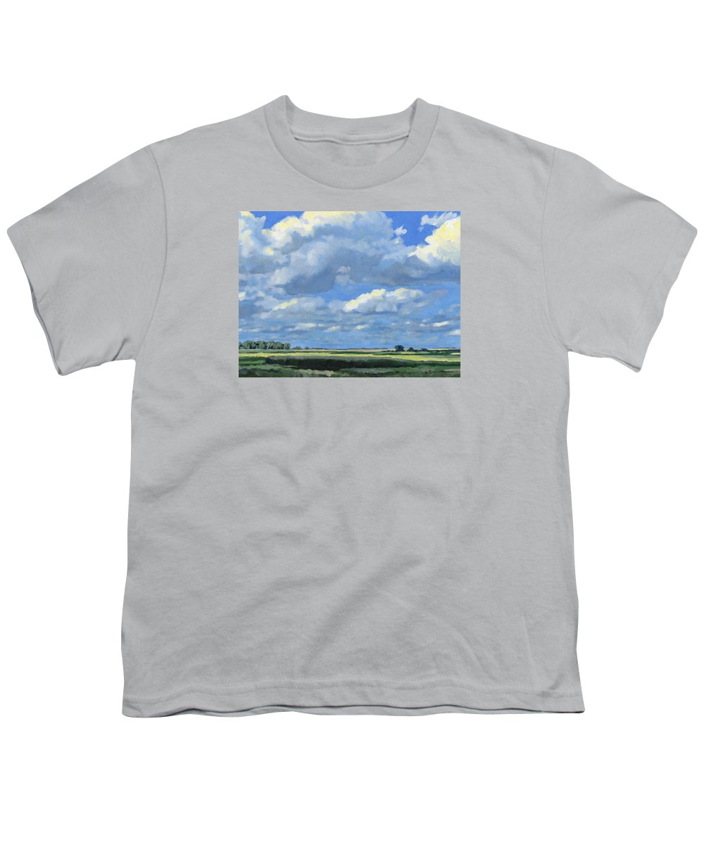 Landscape Youth T-Shirt featuring the painting High Summer by Bruce Morrison