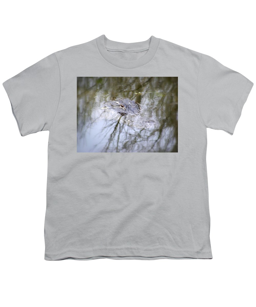 Alligator Youth T-Shirt featuring the photograph I Am Watching by Ed Smith